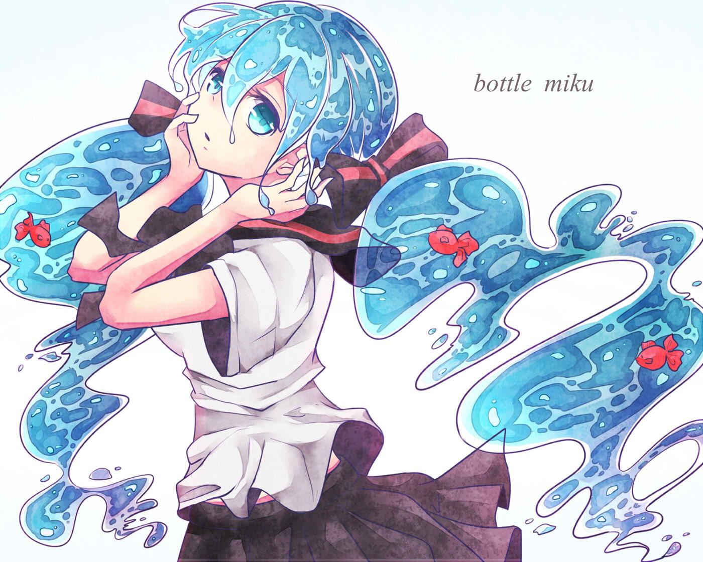 bottle_miku hatsune_miku sonoruru3131 vocaloid
