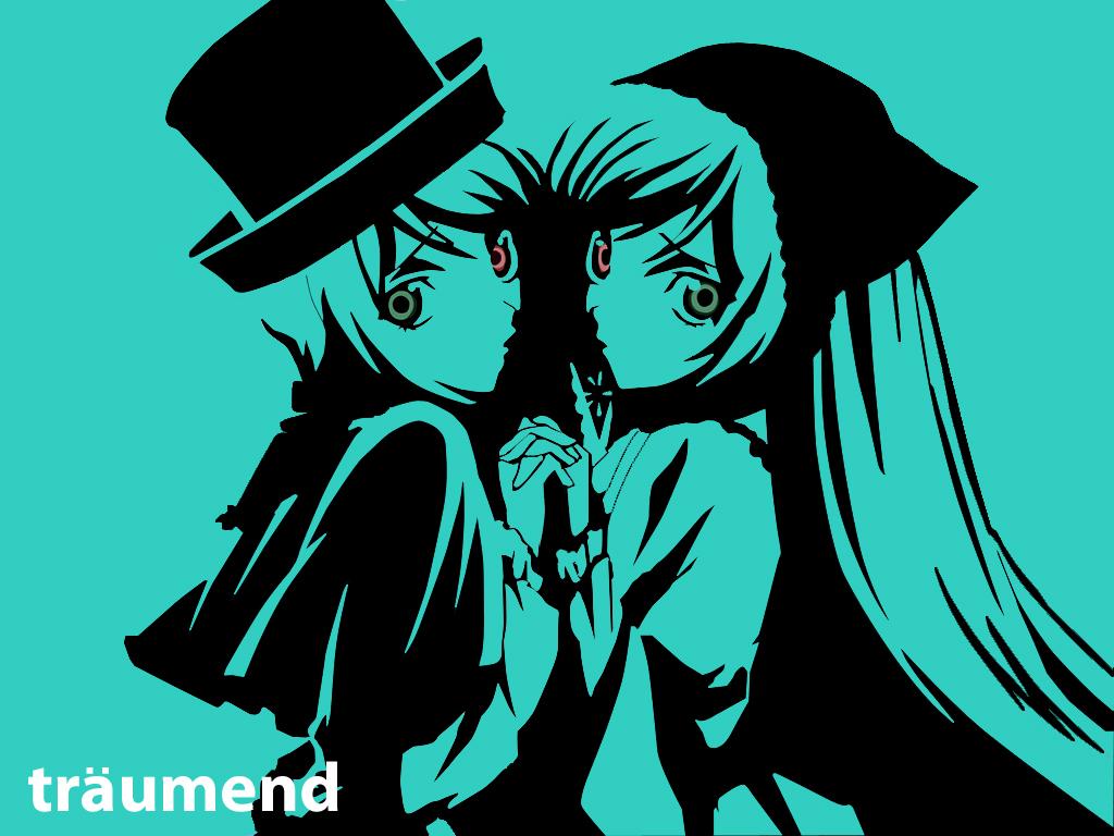 2girls bicolored_eyes polychromatic rozen_maiden souseiseki suiseiseki twins