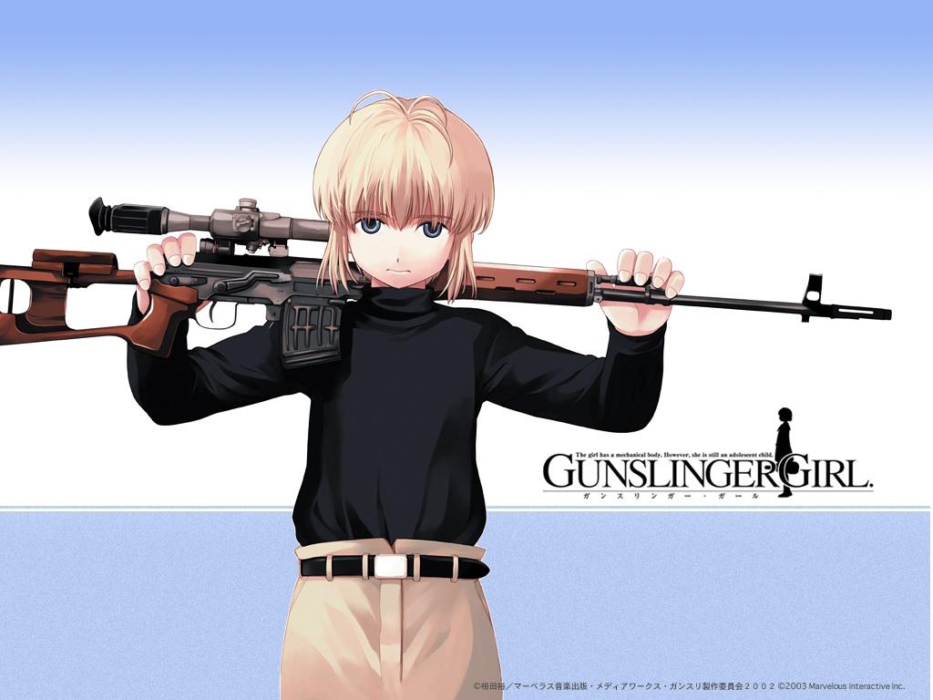 blonde_hair blue_eyes gun gunslinger_girl rico weapon