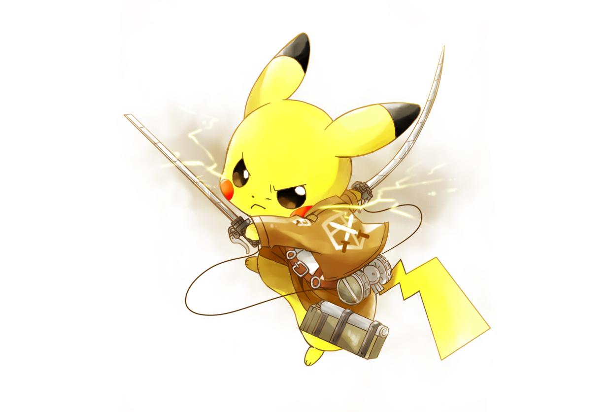 Cosplay pikachu pokemon shingeki no kyojin sword tukinose uniform weapon white - Image pikachu ...