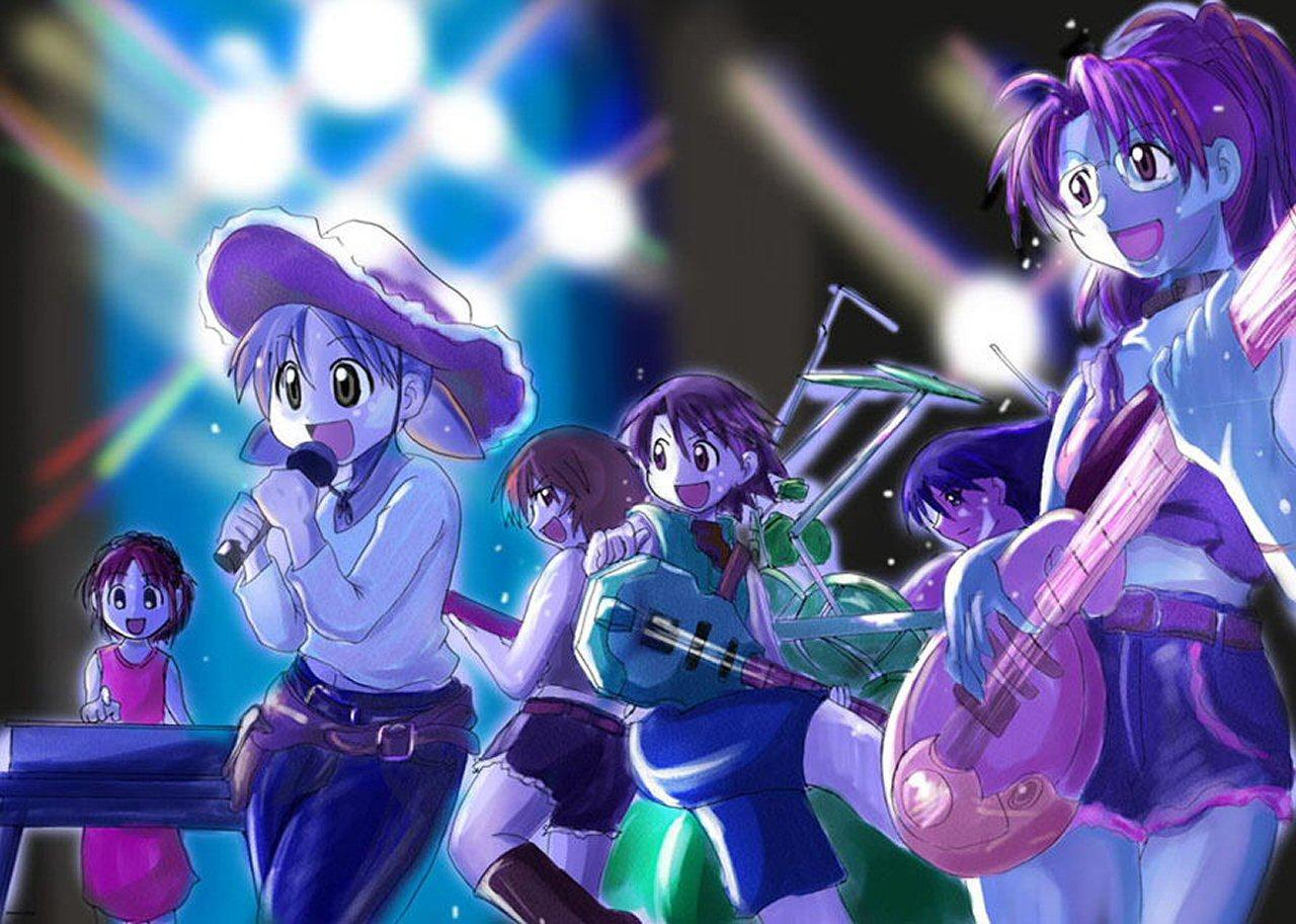 azumanga_daioh jpeg_artifacts kagura kasuga_ayumu mihama_chiyo mizuhara_koyomi music sakaki takino_tomo