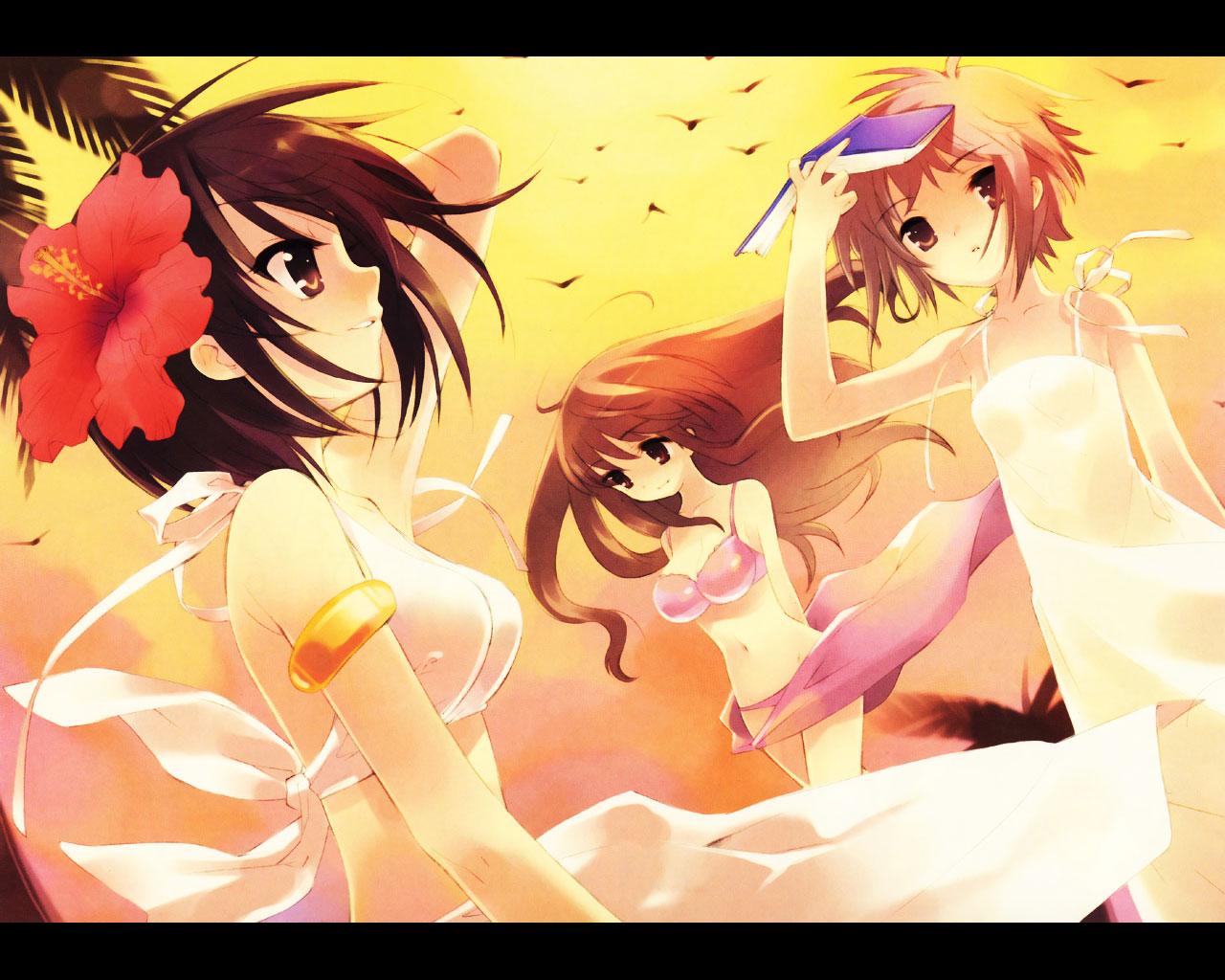 asahina_mikuru book itou_noiji nagato_yuki suzumiya_haruhi suzumiya_haruhi_no_yuutsu yellow