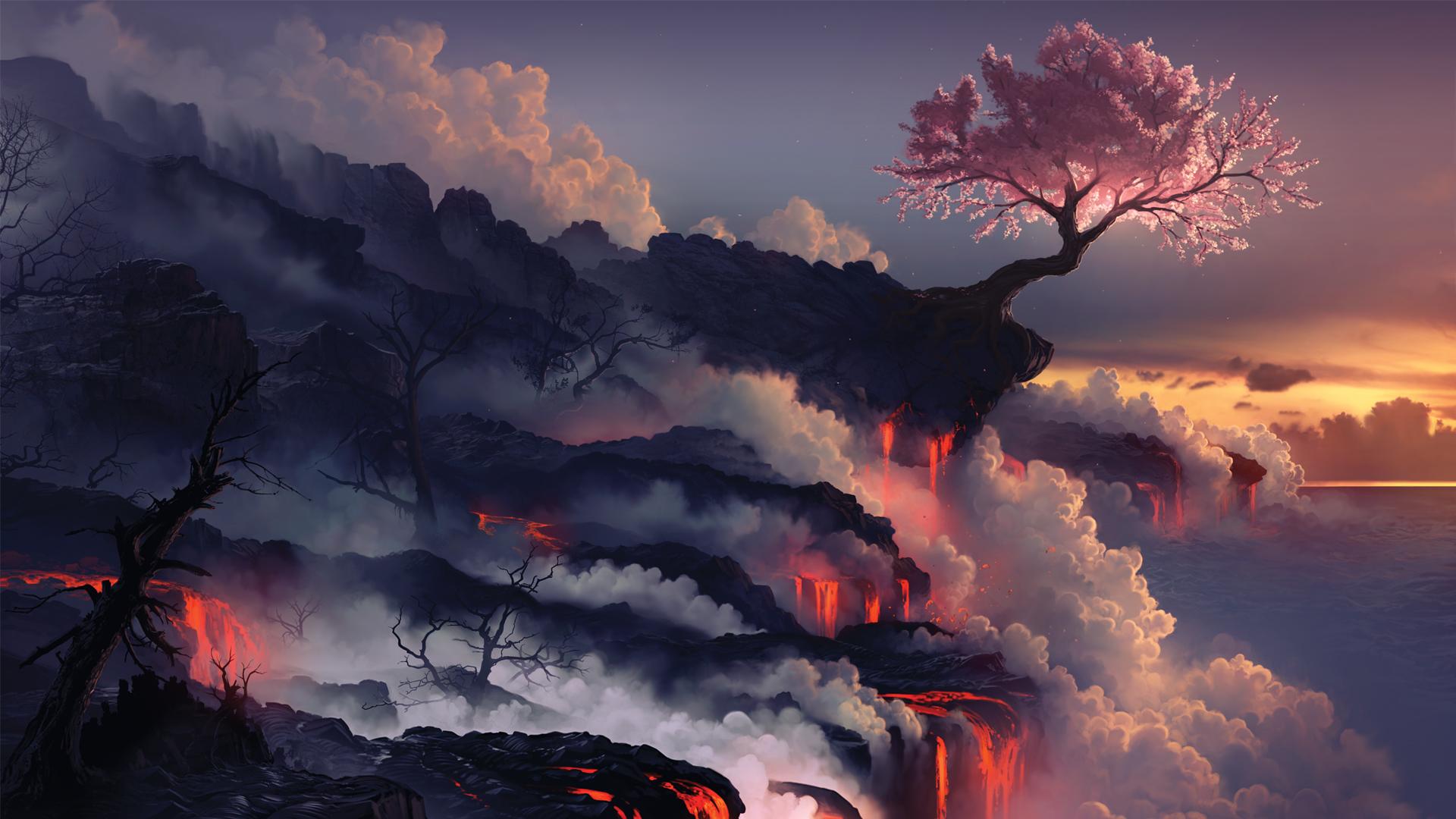 arcipello cherry blossoms clouds landscape nobody original petals scenic tree