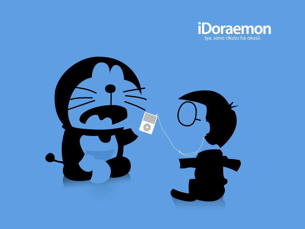 doraemon ipod parody polychromatic silhouette