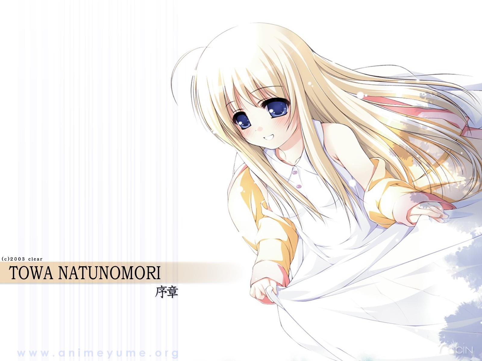 blonde_hair blue_eyes blush long_hair natunomori_towa ooji te_no_hira_wo_taiyou_ni watermark