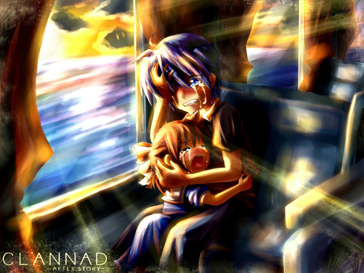 clannad crying okazaki tomoya okazaki ushio | konachan.com ...