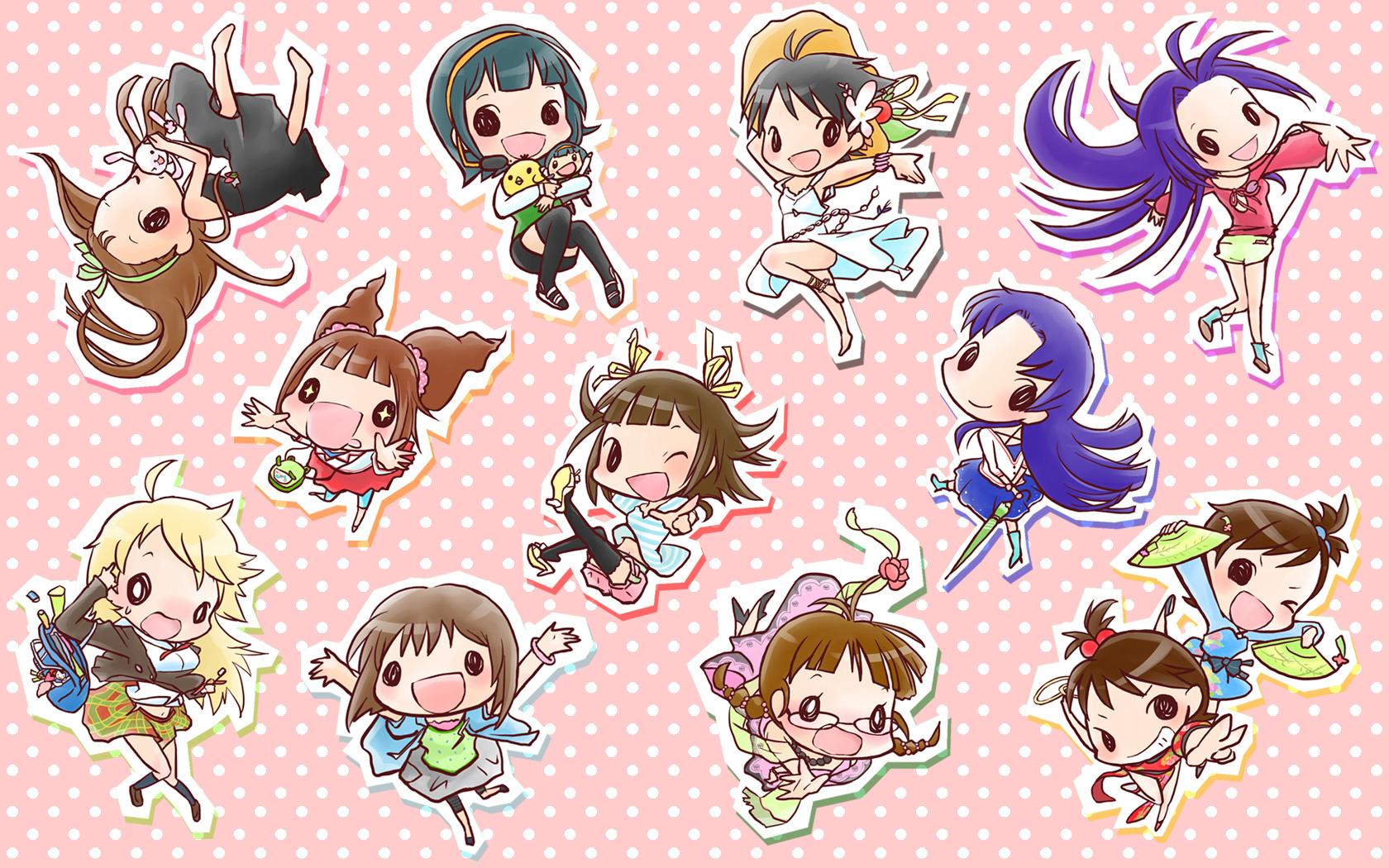akizuki_ritsuko amami_haruka chibi futami_ami futami_mami hagiwara_yukiho hoshii_miki idolmaster kikuchi_makoto kisaragi_chihaya minase_iori miura_azusa otonashi_kotori takatsuki_yayoi twins