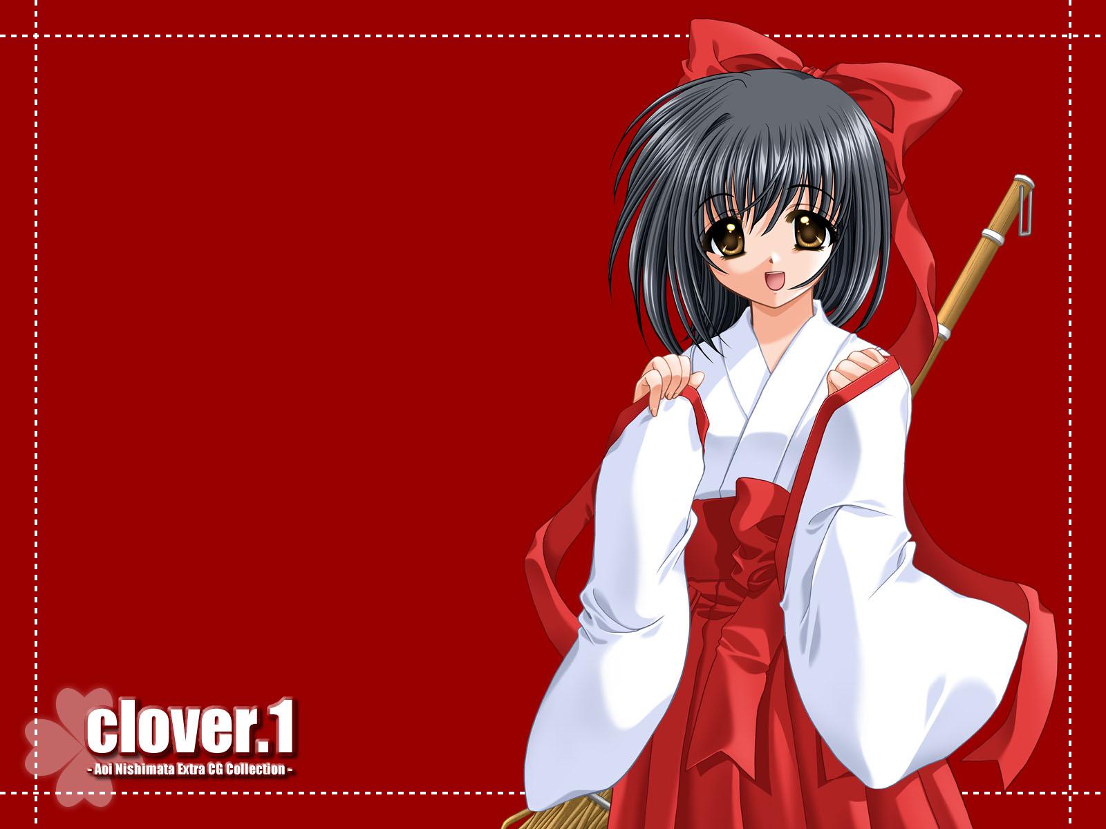 japanese_clothes miko nishimata_aoi red