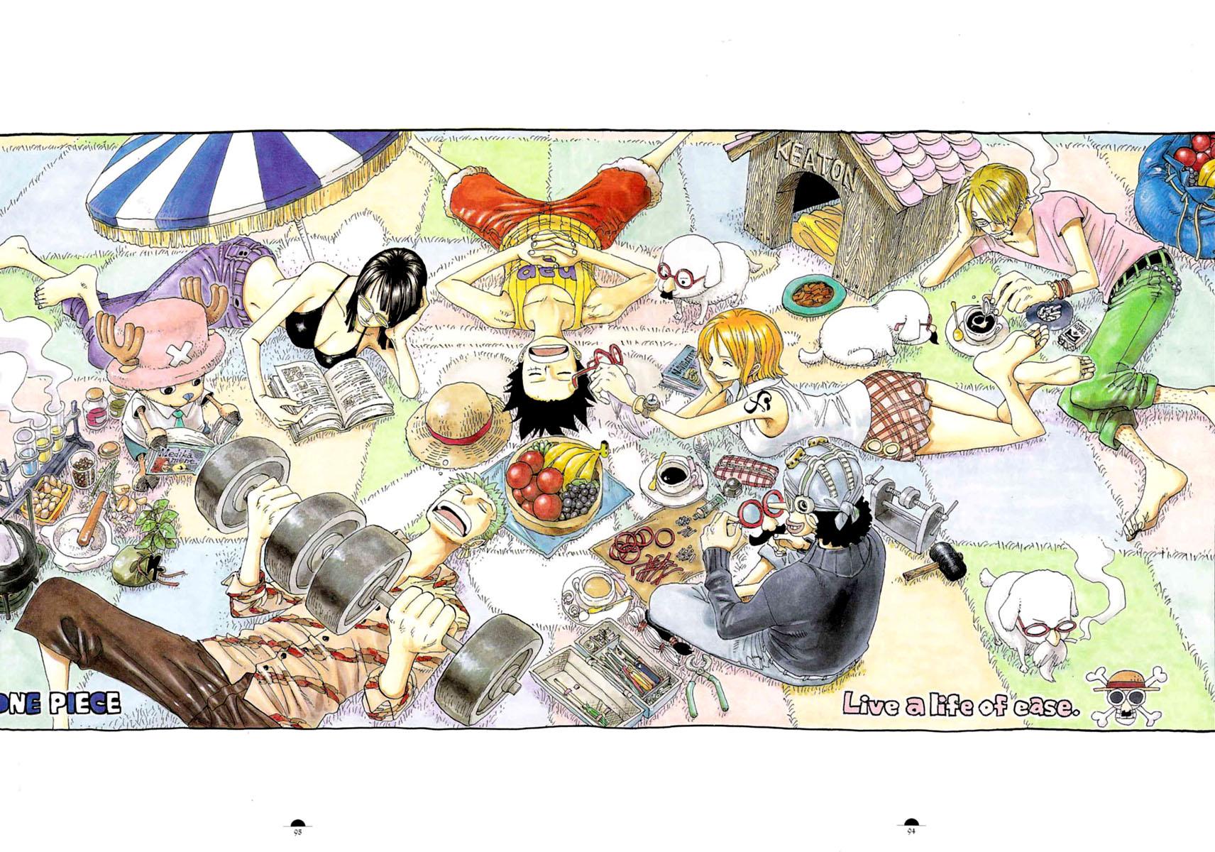 animal barefoot book drink food fruit glasses green_hair group hat jpeg_artifacts male monkey_d_luffy nami nico_robin oda_eiichirou one_piece orange_hair roronoa_zoro sanji short_hair skirt smoking tattoo tony_tony_chopper usopp