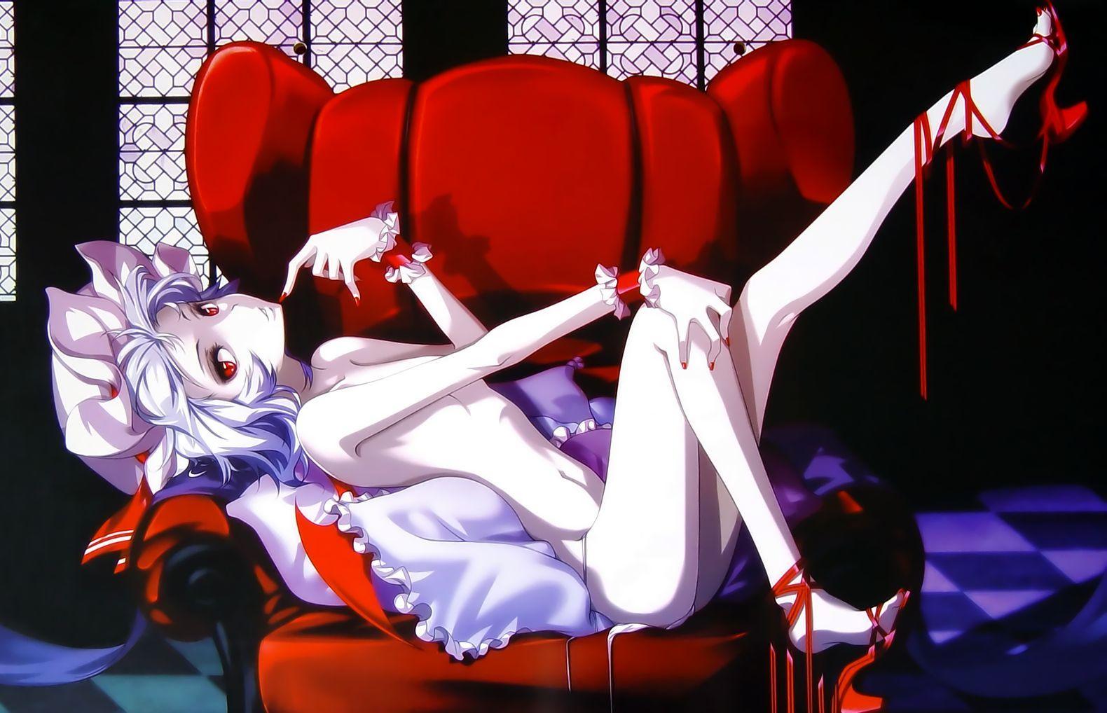 hong_(white_spider) nude red_eyes remilia_scarlet short_hair touhou vampire