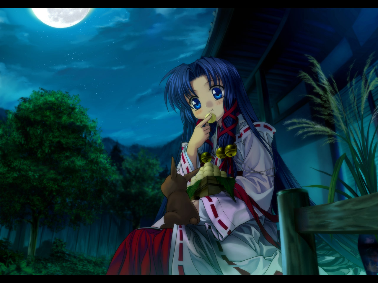 air japanese_clothes kanna kannabi_no_mikoto key moon moonknives night visualart