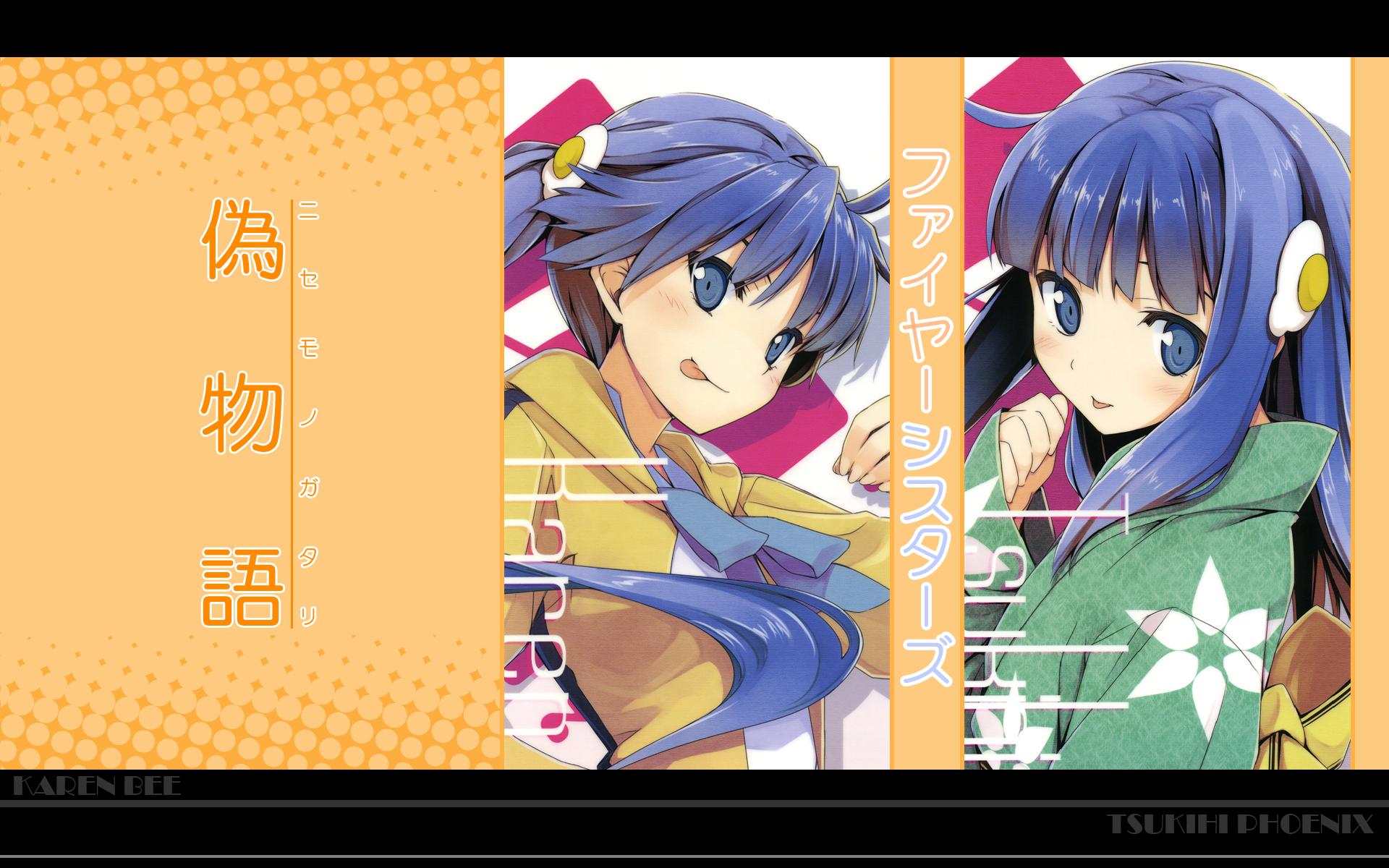 araragi_karen araragi_tsukihi bakemonogatari monogatari_(series)