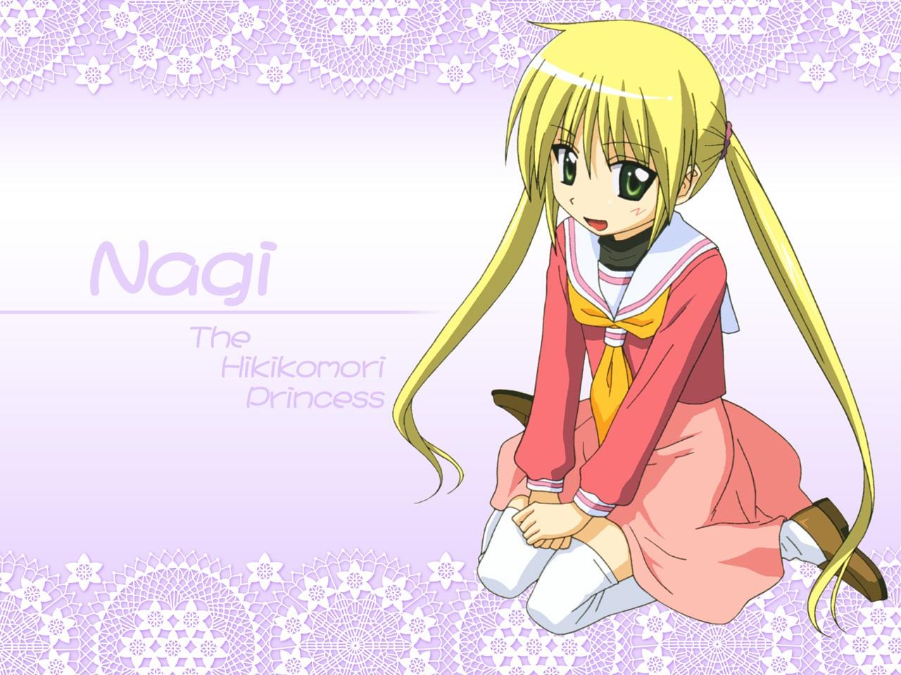 blonde_hair green_eyes hayate_no_gotoku long_hair sanzenin_nagi school_uniform skirt thighhighs twintails