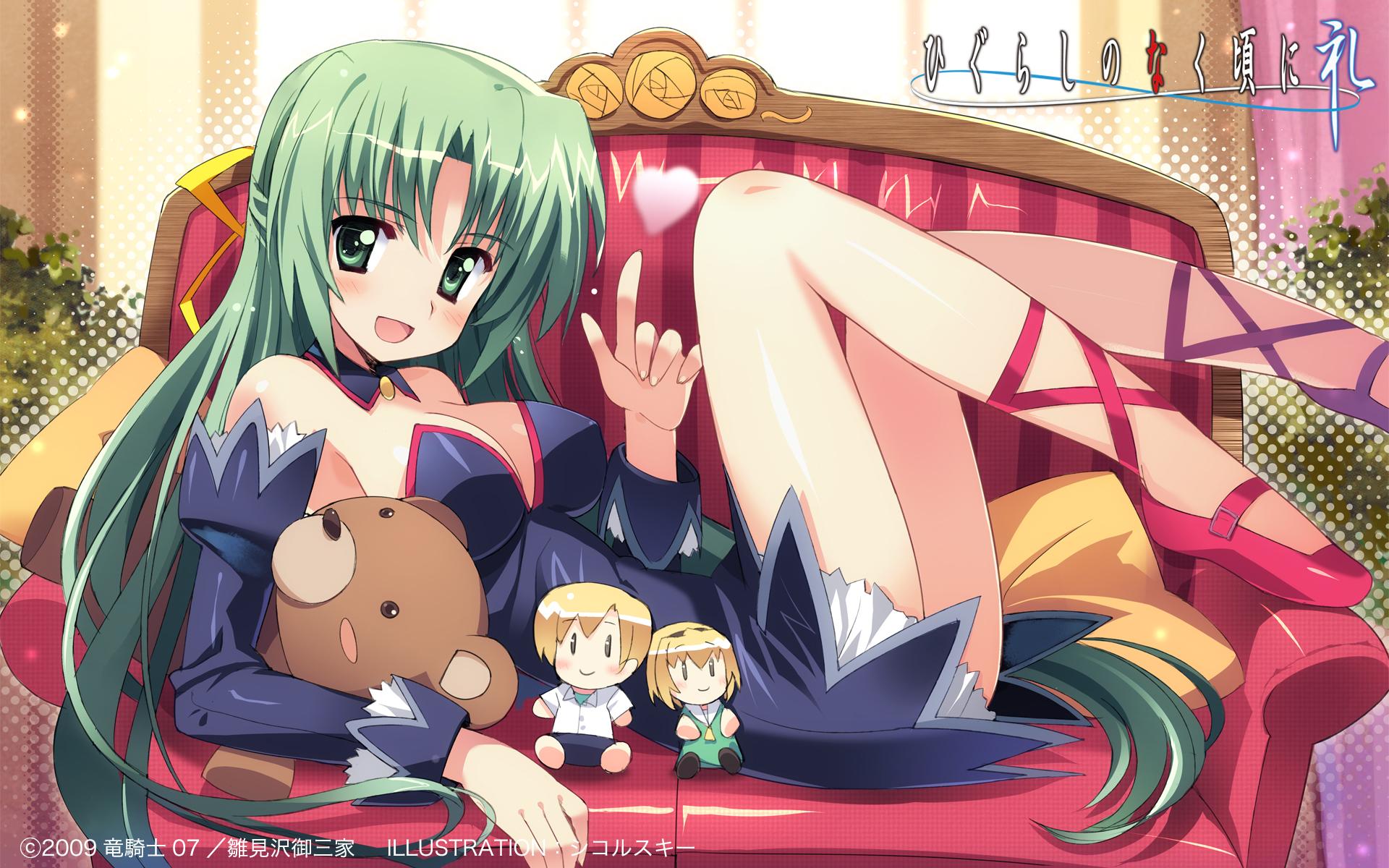 green_hair higurashi_no_naku_koro_ni sikorsky sonozaki_shion