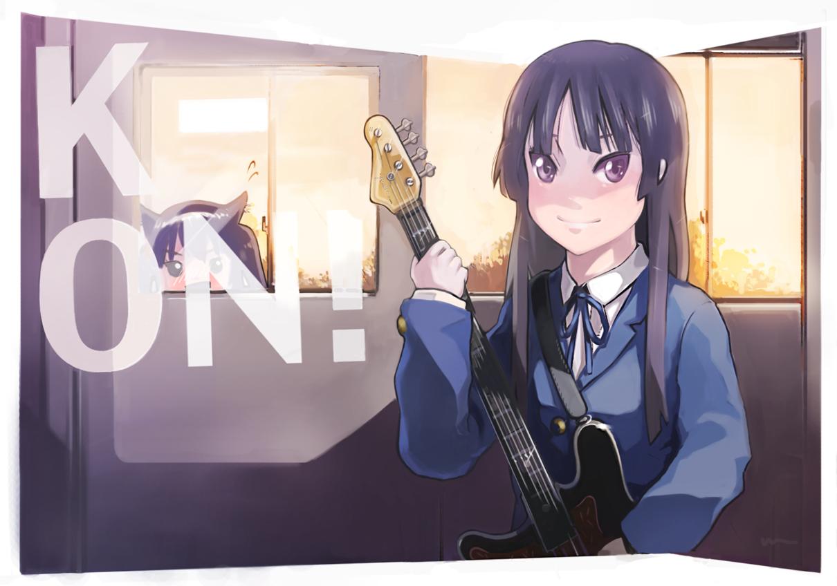 akiyama_mio k-on! nakano_azusa