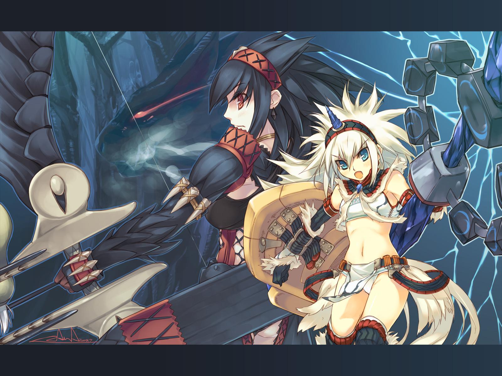 colorful_dot kirin_(armor) monster_hunter nargacuga_(armor) zama_masaaki