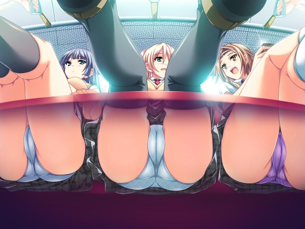 akaza amasaka_miko cameltoe game_cg henshin_3 panties seifuku skirt thighhighs underwear upskirt