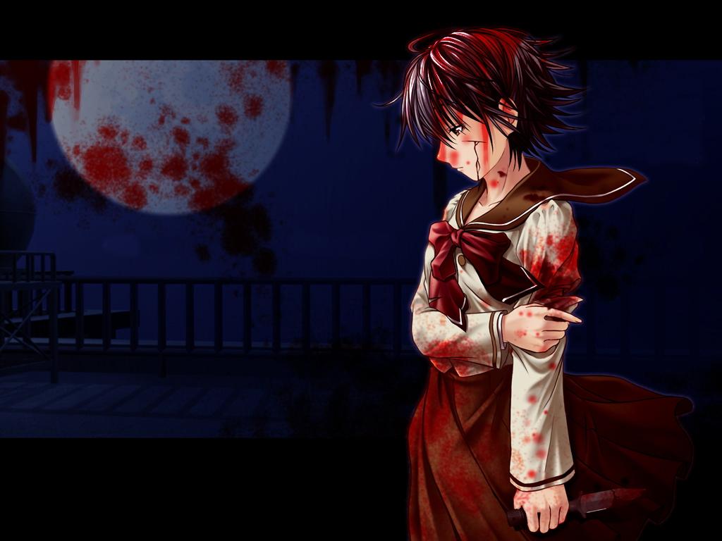Кровавые аниме картинки.