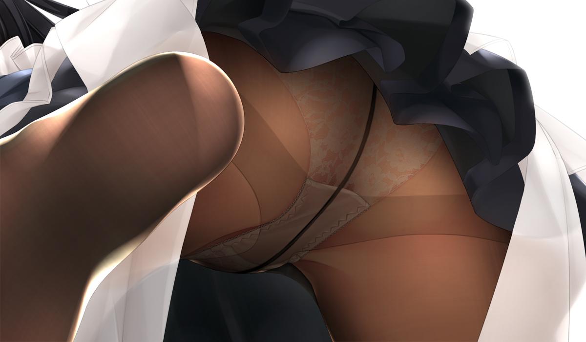 ass close maid murakami_suigun original panties pantyhose skirt underwear