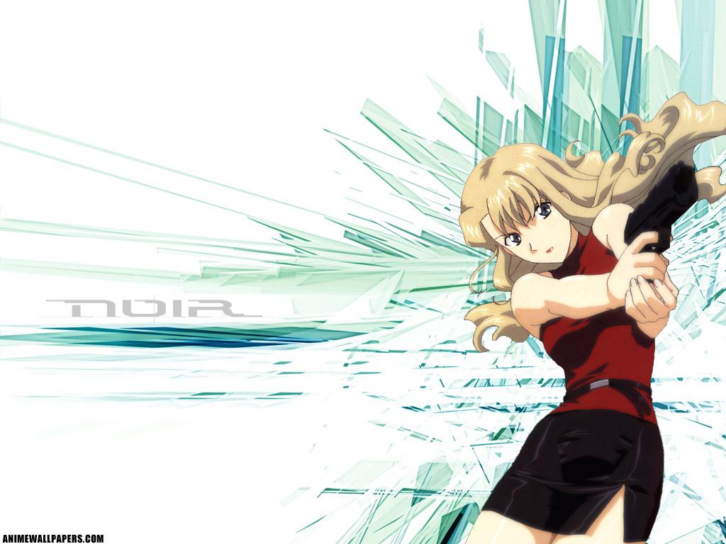 blonde_hair blue_eyes gun mireille_bouquet noir weapon
