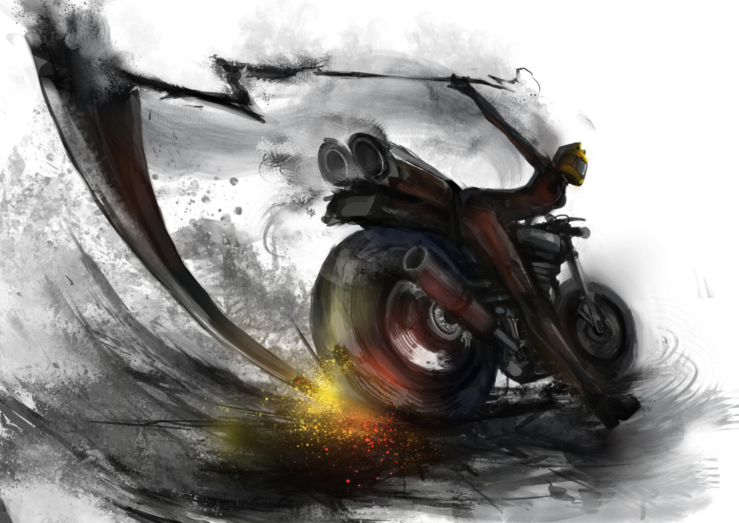 celty_sturluson durarara!! m874 motorcycle scythe weapon
