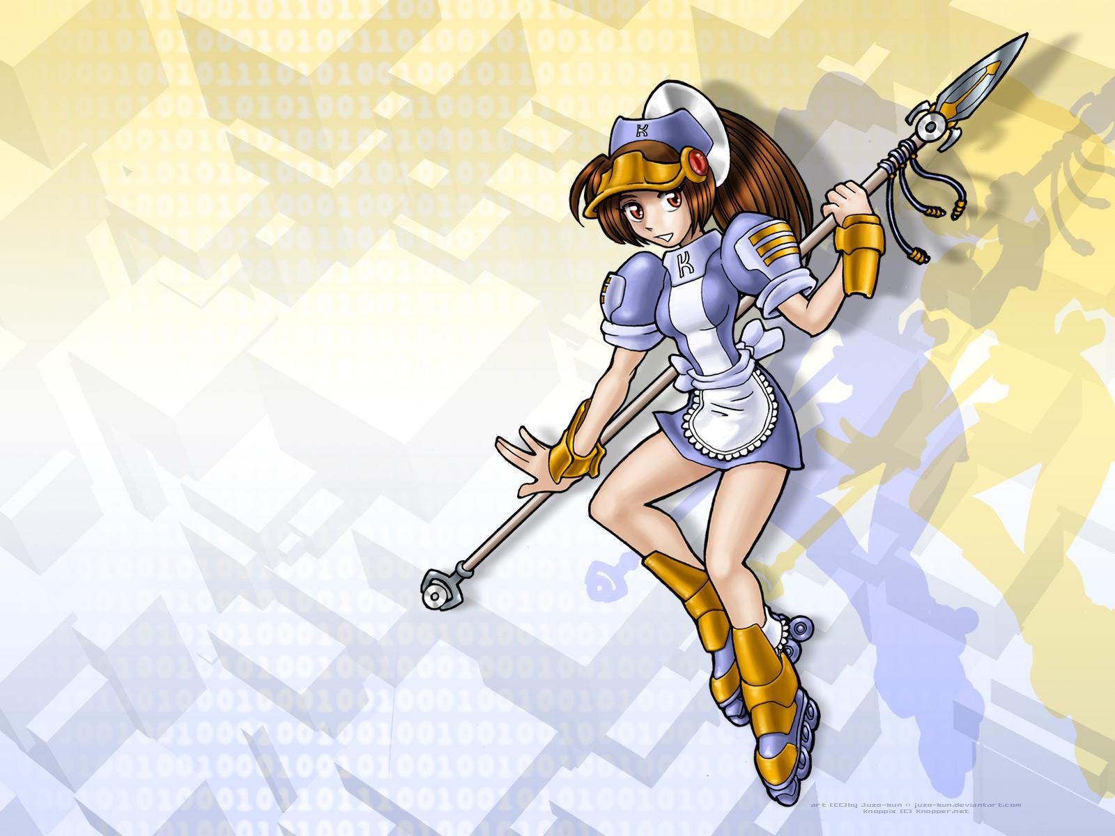 anthropomorphism juzo-kun knoppix linux os-tan spear weapon