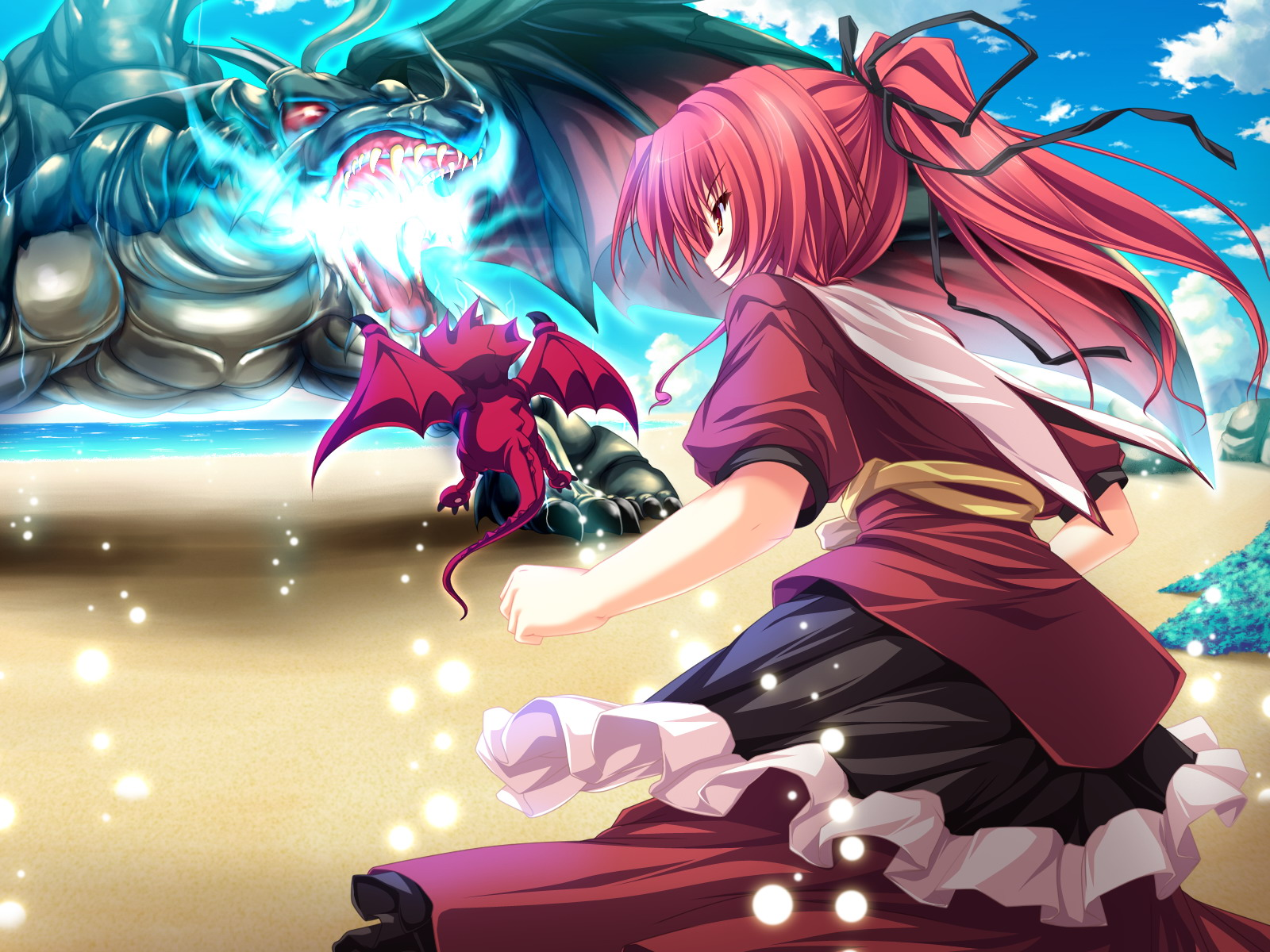 game_cg magus_tale ponytail red_hair seera_finis_victoria tenmaso