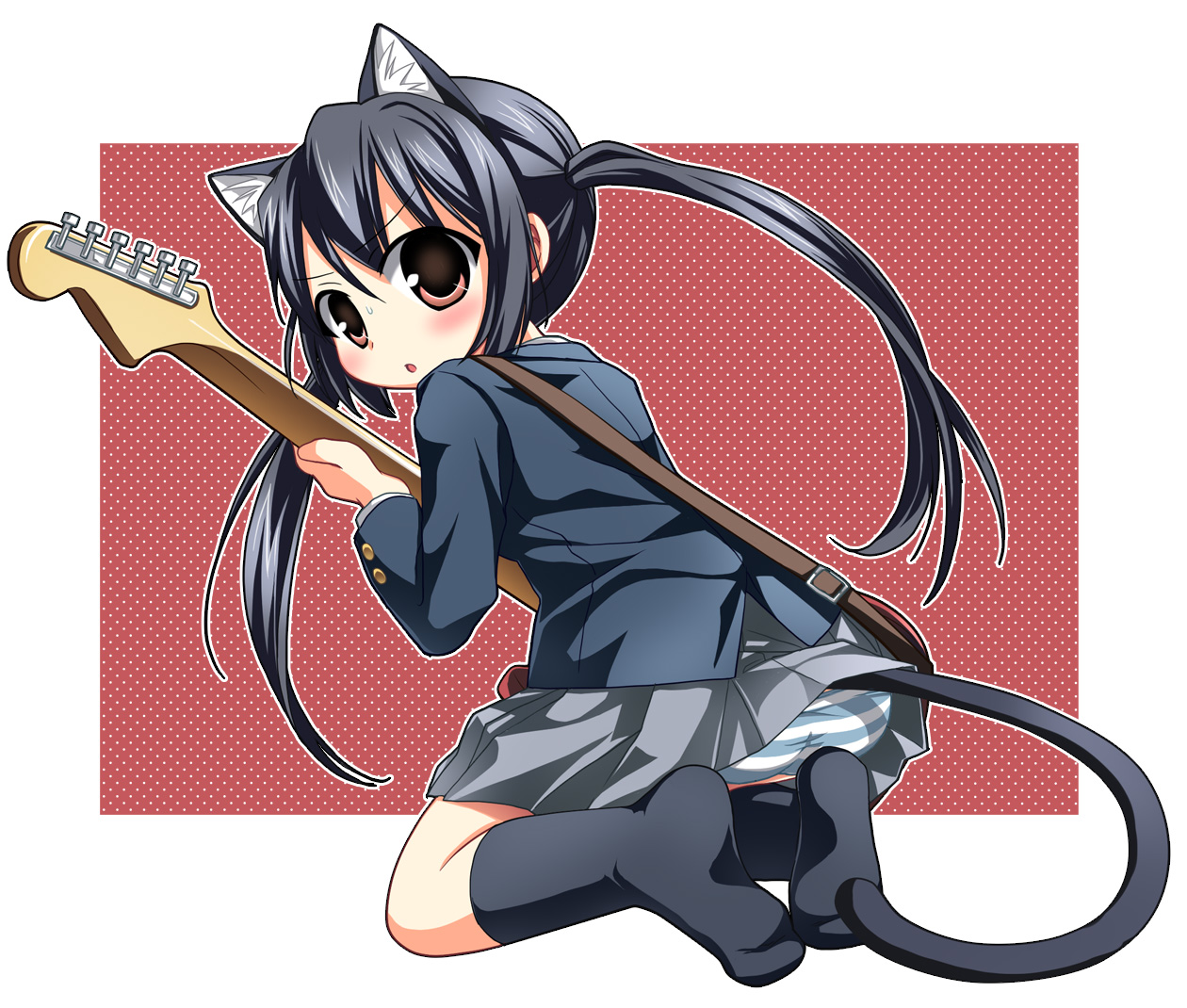 animal animal ears blush boots bra cat catgirl long hair