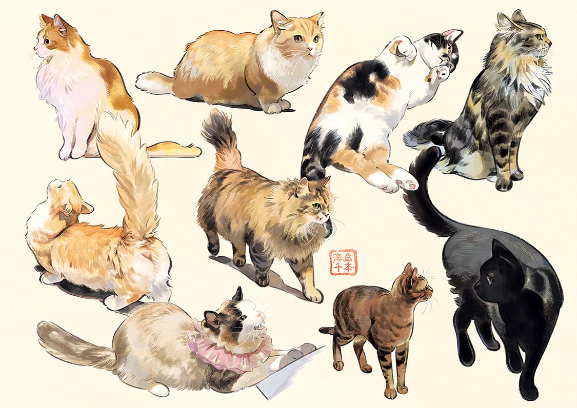 animal cat original umishima_senbon