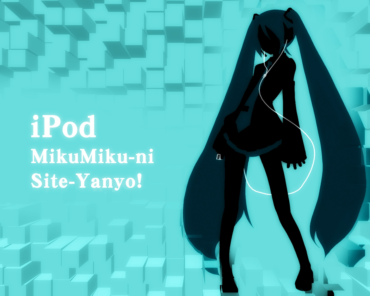hatsune_miku ipod parody polychromatic silhouette vocaloid