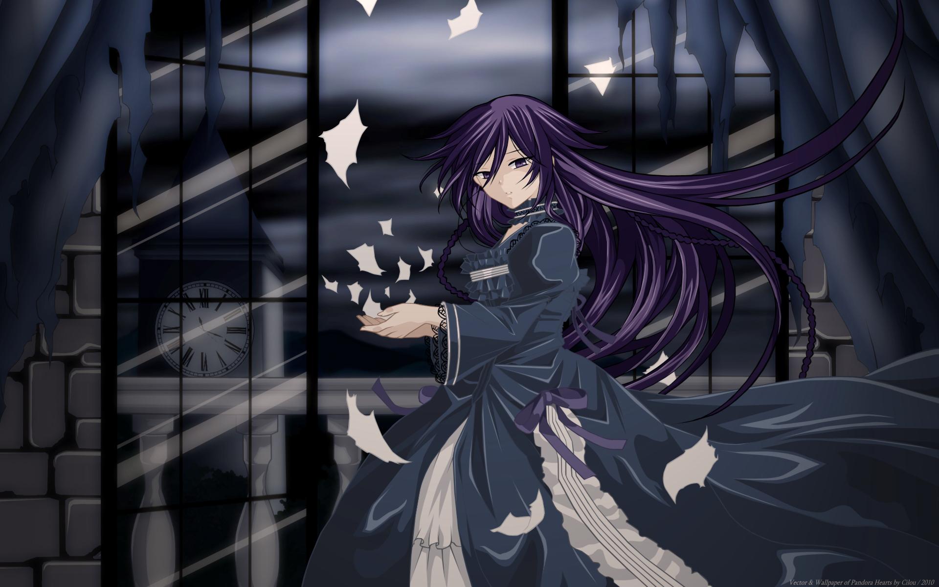 alice_(pandora_hearts) dress goth-loli lolita_fashion long_hair night pandora_hearts