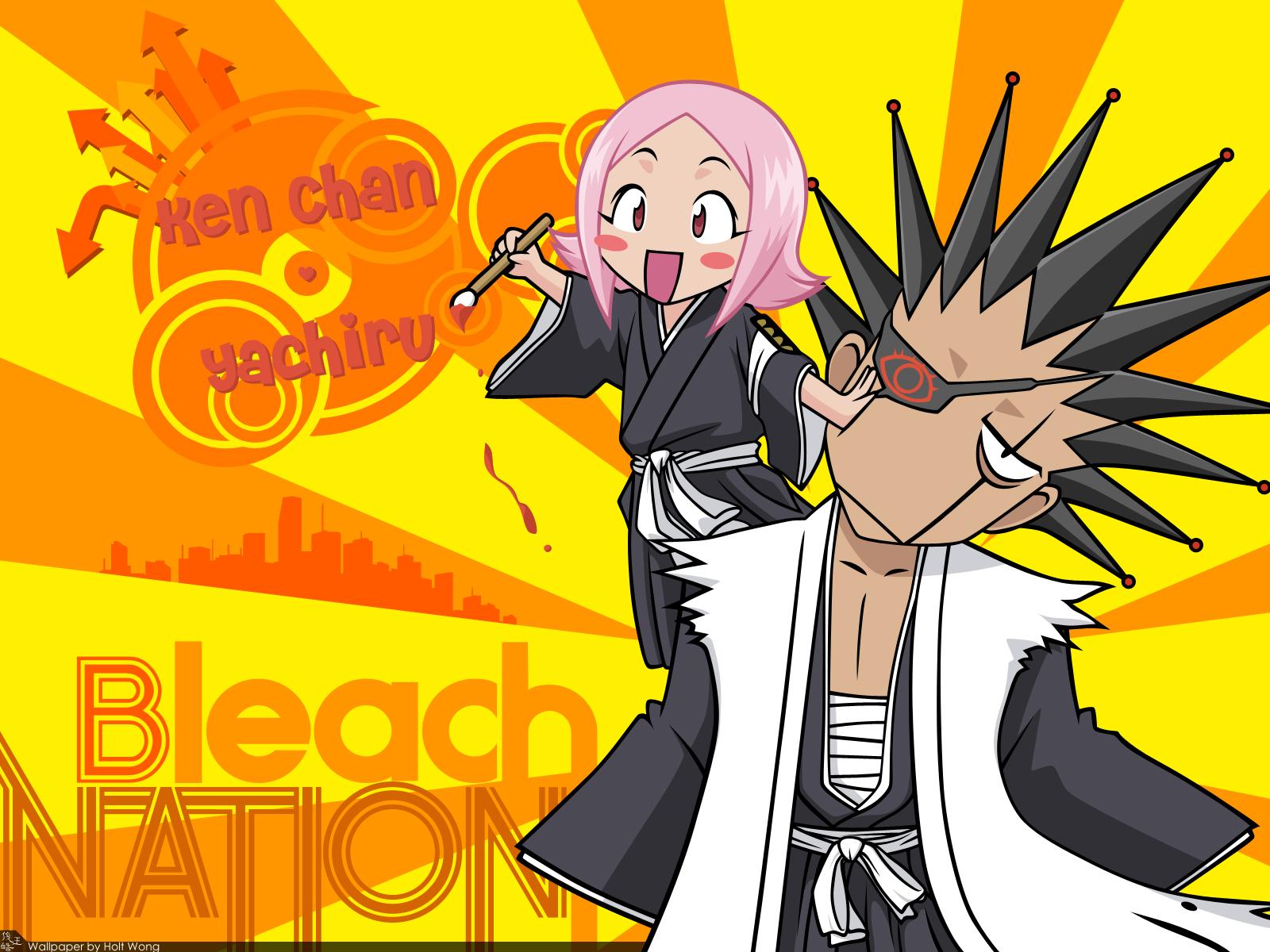 bleach kusajishi_yachiru loli male zaraki_kenpachi