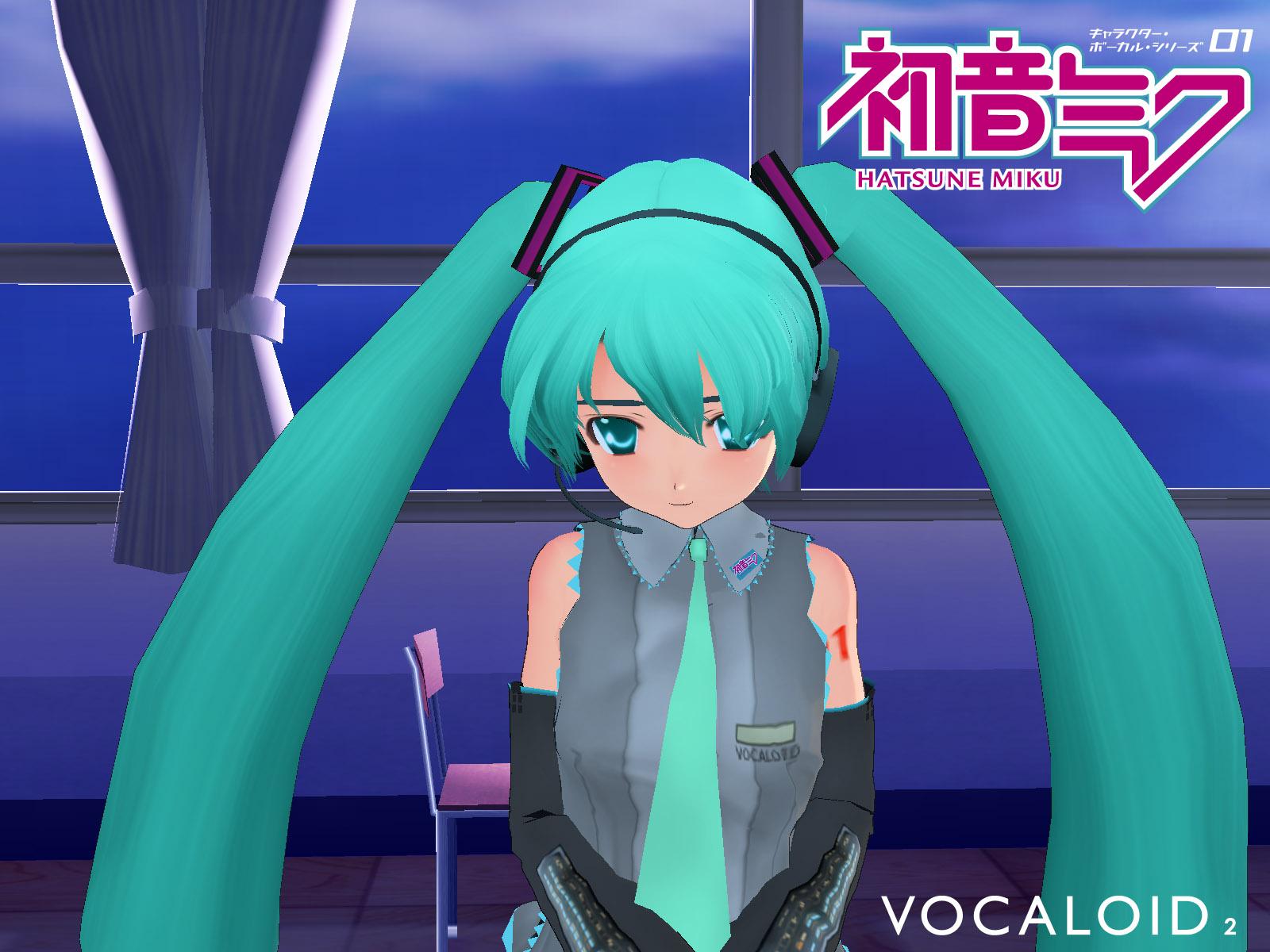 3d aqua_eyes aqua_hair hatsune_miku headphones long_hair tie twintails vocaloid