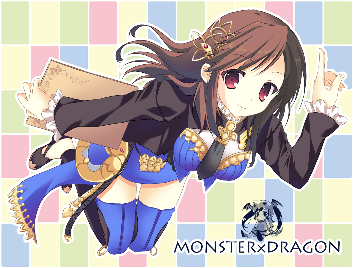 brown_hair monster_x_dragon tagme thighhighs