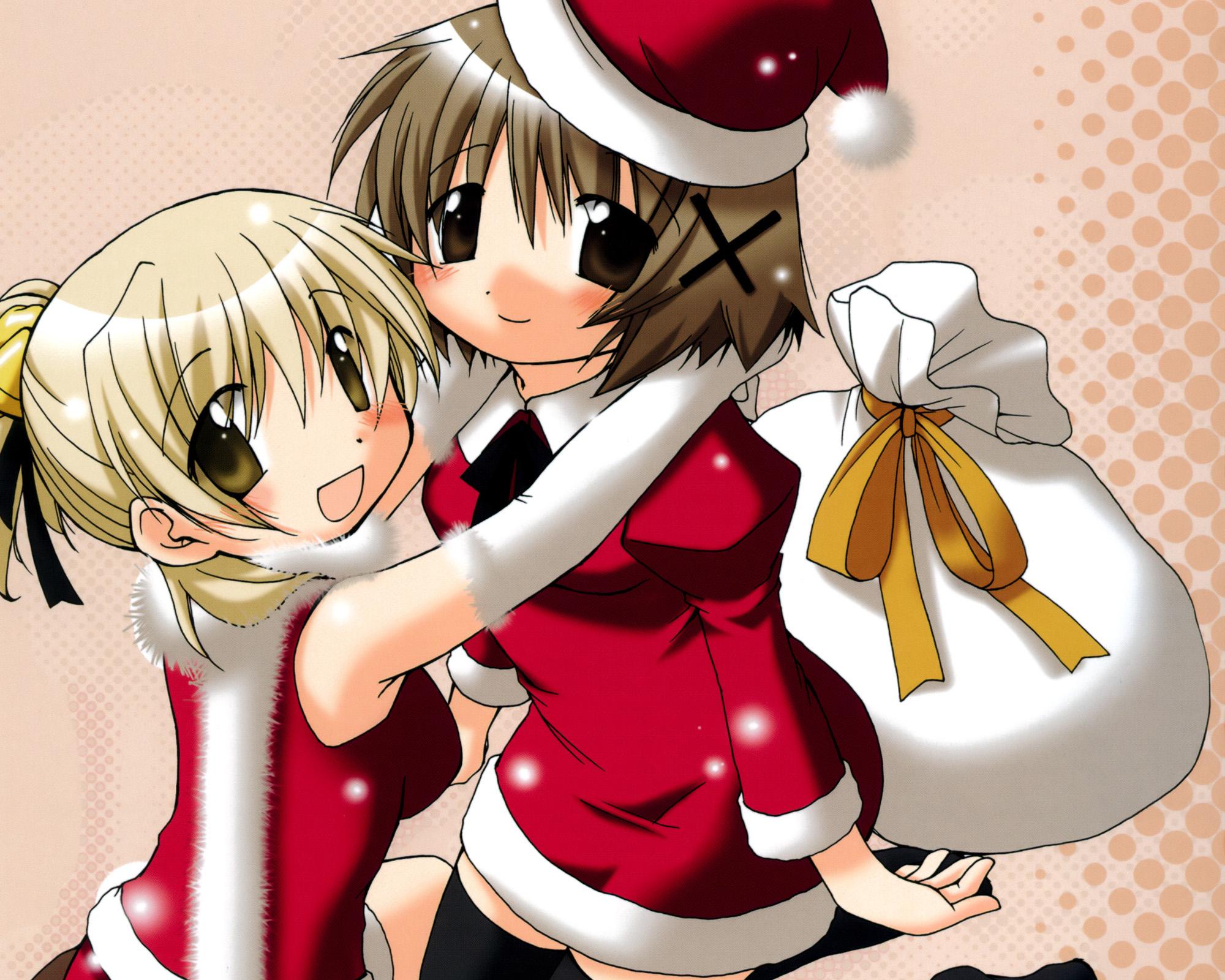 Christmas hidamari sketch miyako ume aoki yuno konachan - Sketch anime wallpaper ...