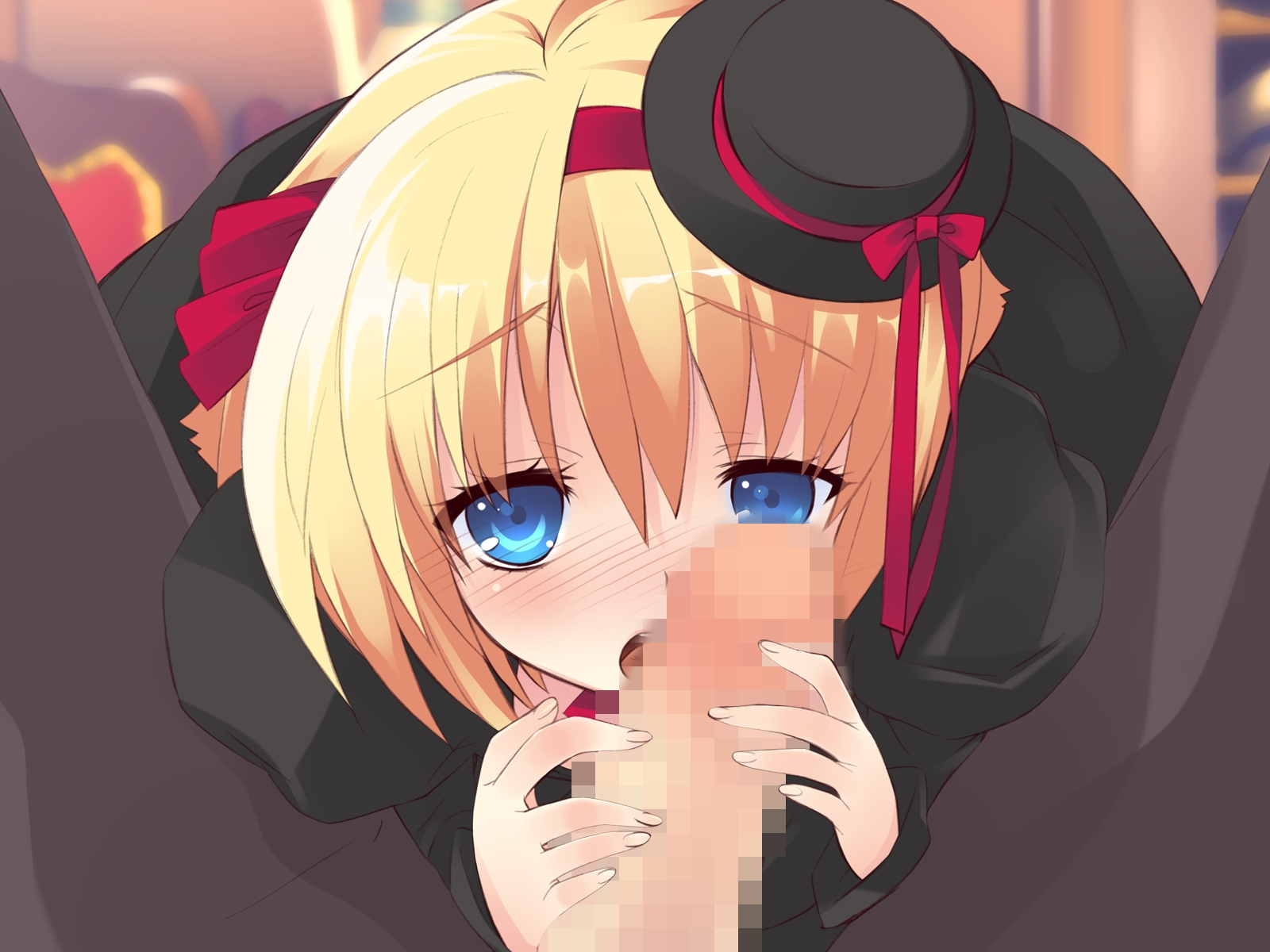 alice_parade blonde_hair blue_eyes censored game_cg odoodo_funny penis unisonshift