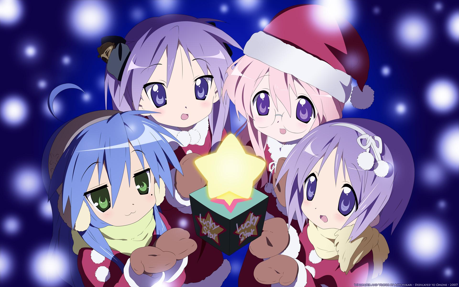 Hiiragi Kagami Hiiragi Tsukasa Izumi Konata Lucky Star Takara Miyuki Girl Star Shine Christmas Leather Passport Holder Cover Case Travel One Pocket
