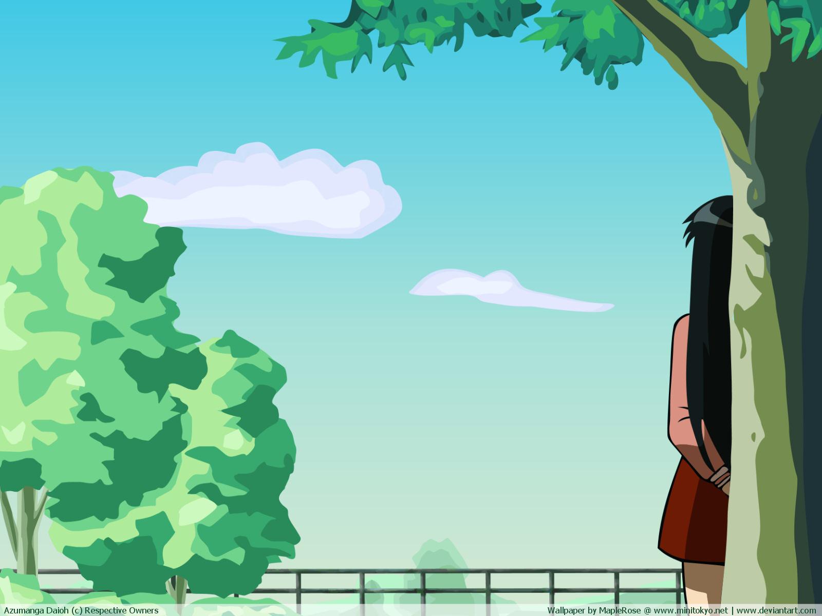 azumanga_daioh black_hair sakaki school_uniform
