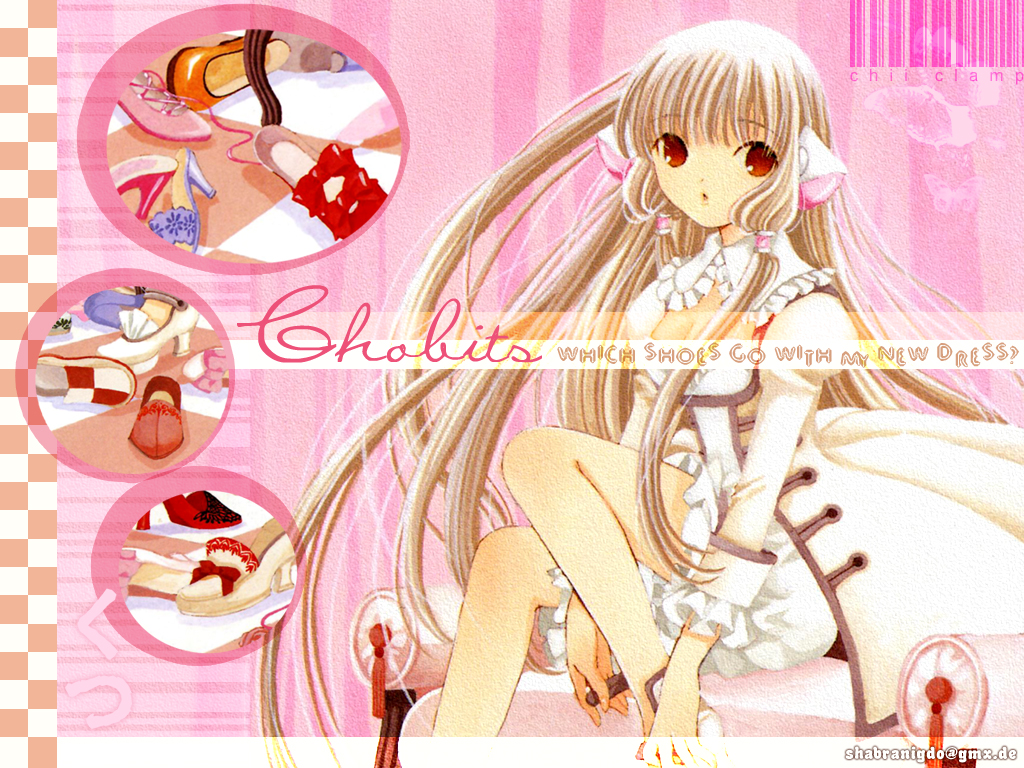 blonde_hair chii chobits clamp dress long_hair