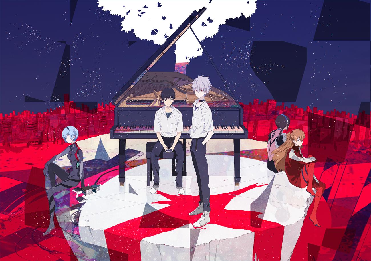 ayanami_rei ikari_shinji instrument makinami_mari_illustrious nagisa_kaworu neon_genesis_evangelion oka_(a.m.) piano soryu_asuka_langley