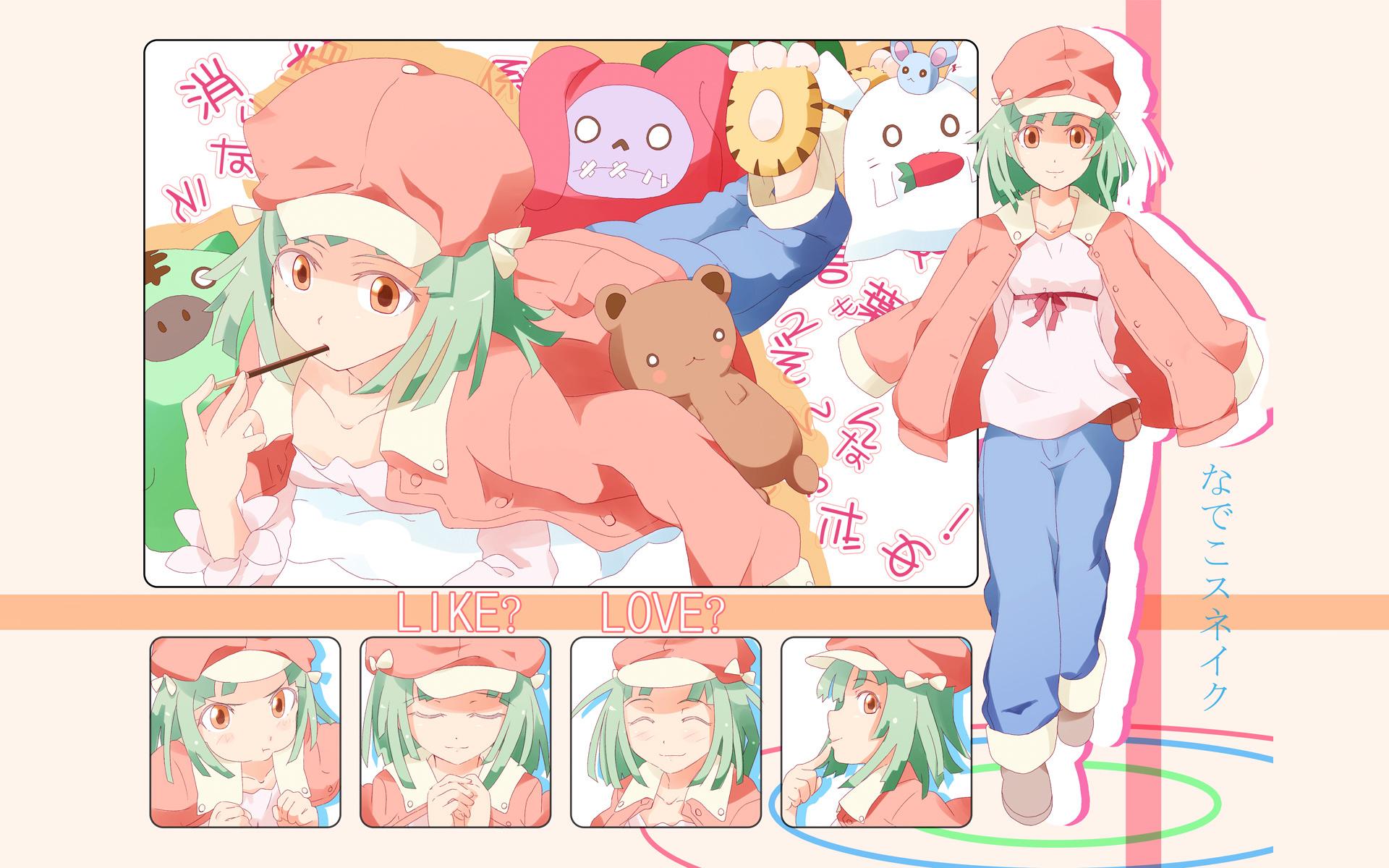bakemonogatari green_hair monogatari_(series) sengoku_nadeko