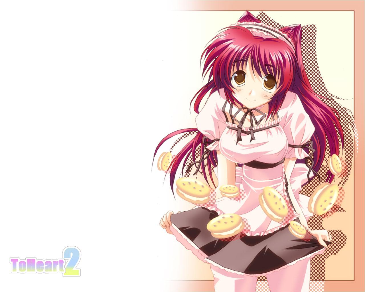 aquaplus kousaka_tamaki leaf to_heart to_heart_2