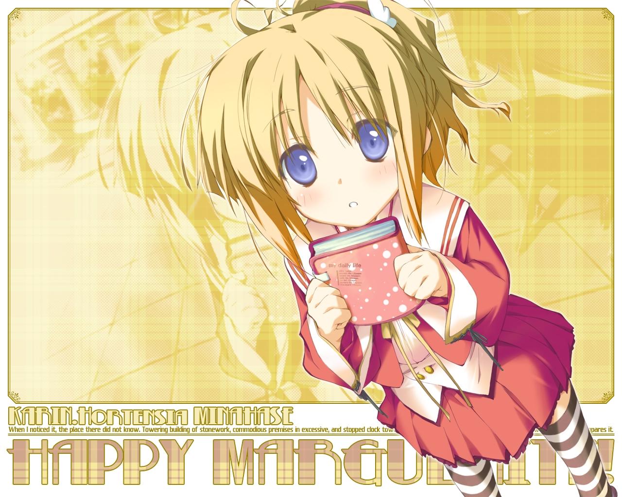 favorite happy_margaret! kokonoka minahase_karin thighhighs