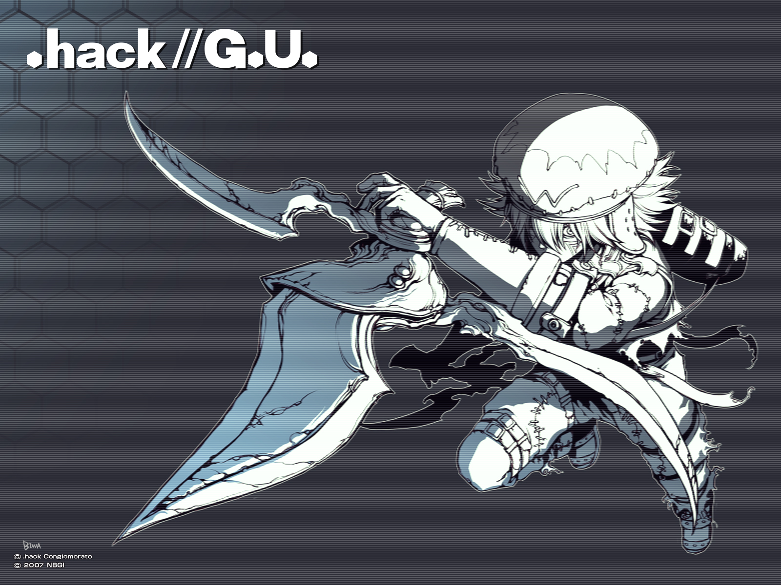 .hack// .hack//g.u. .hack//link .hack//roots kite_of_the_azure_flame tri-edge