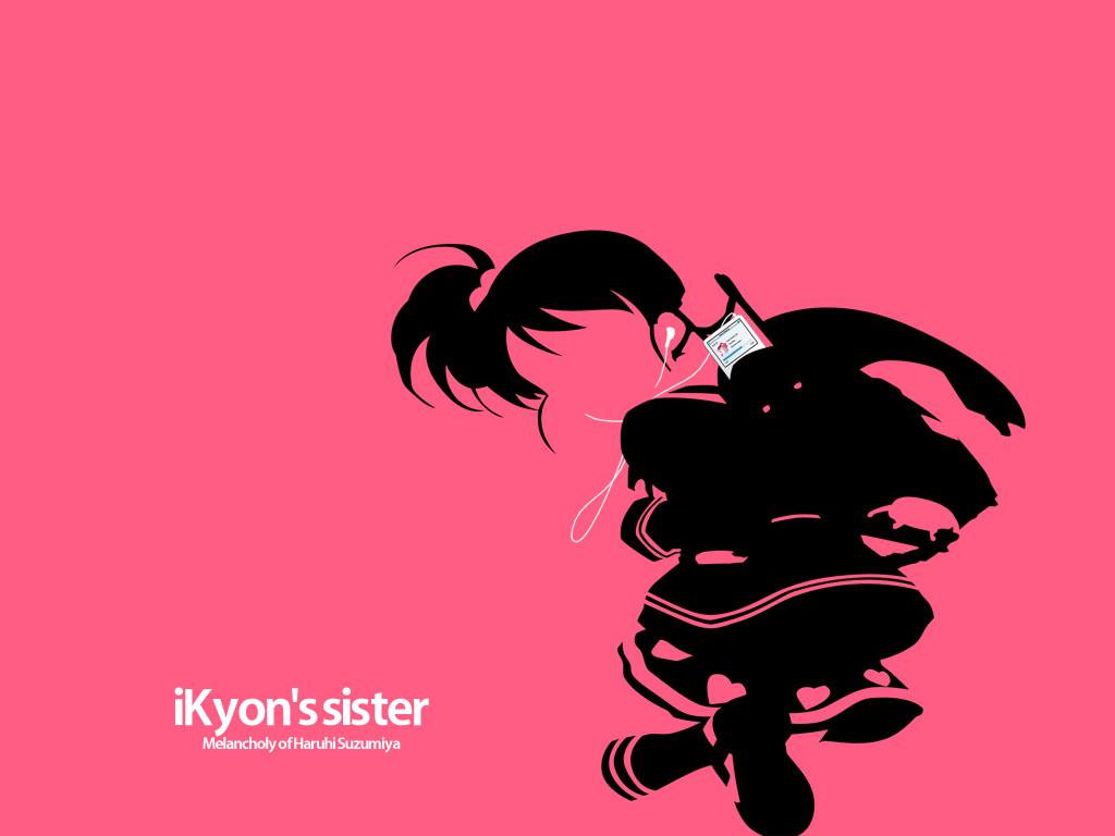 ipod kyon_no_imouto parody pink silhouette suzumiya_haruhi_no_yuutsu