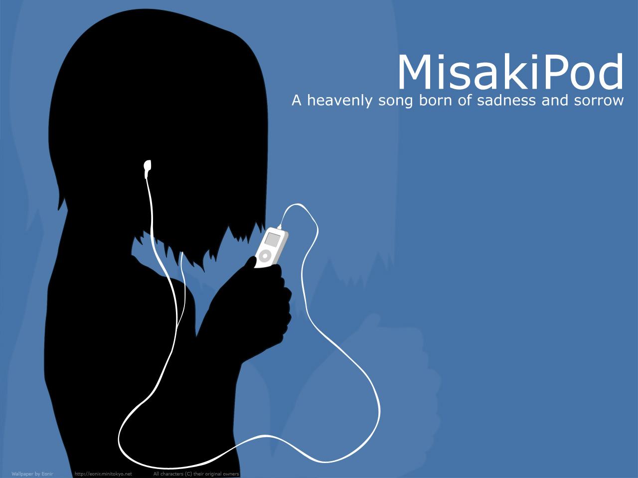 ipod nakahara_misaki nhk_ni_youkoso parody silhouette