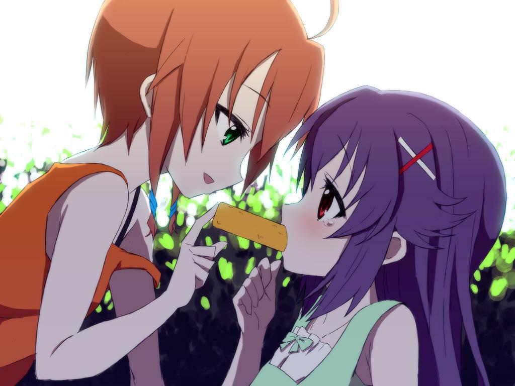 2girls green_eyes hercule_barton red_eyes saiko_dagashi tantei_opera_milky_holmes tears yuzurizaki_nero