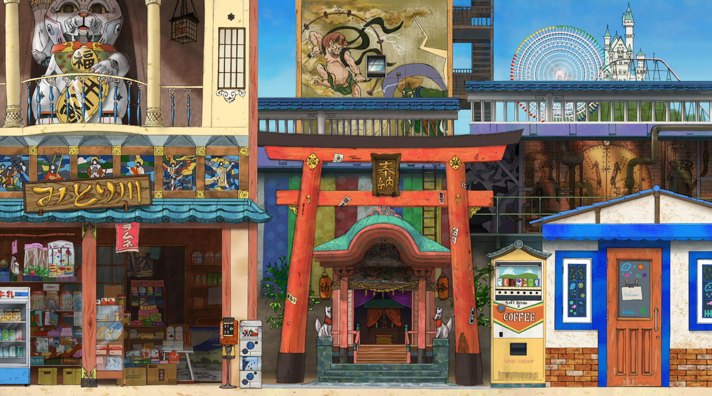building kaitan nobody original stairs torii