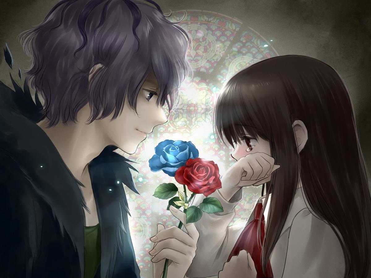 Cute anime couple.   Gotta Love Anime   Pinterest