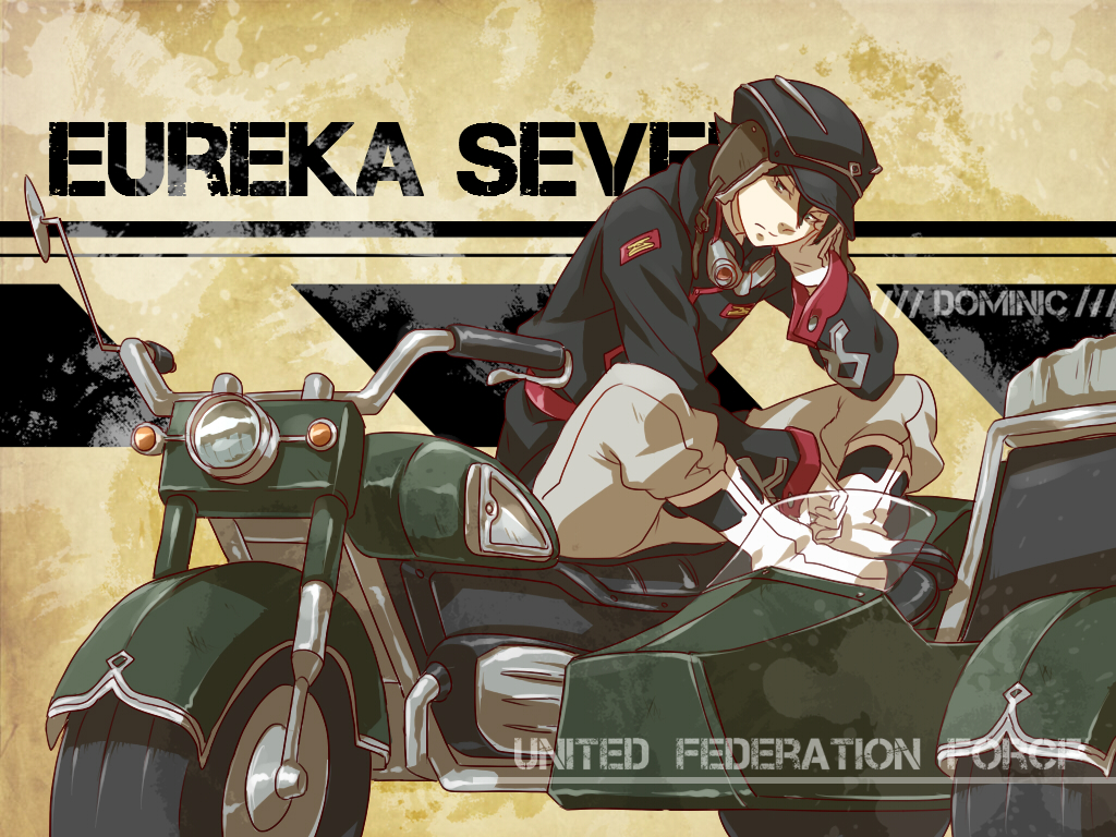 dominic_sorel eureka_seven goggles motorcycle uniform